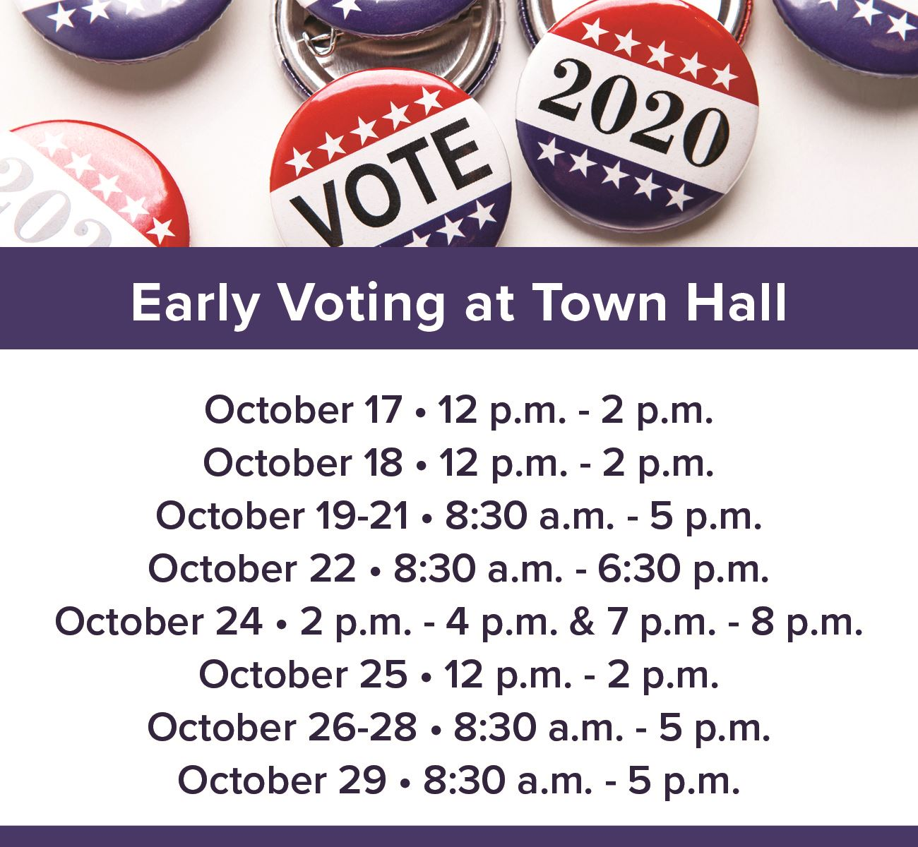 2020 Early Voting Times