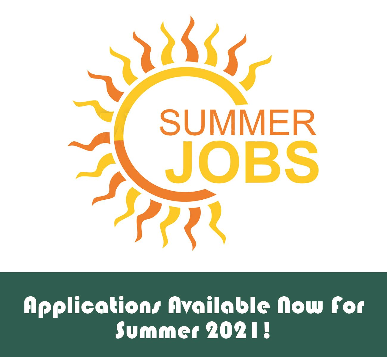 Parks and rec Summer jobs 2021